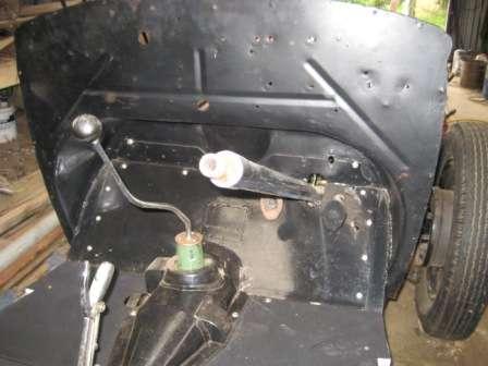 Rebuild steering, floor and handbrake 01