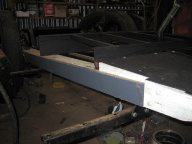 Rebuild steering, floor and handbrake 02