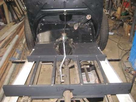 Rebuild steering, floor and handbrake 03