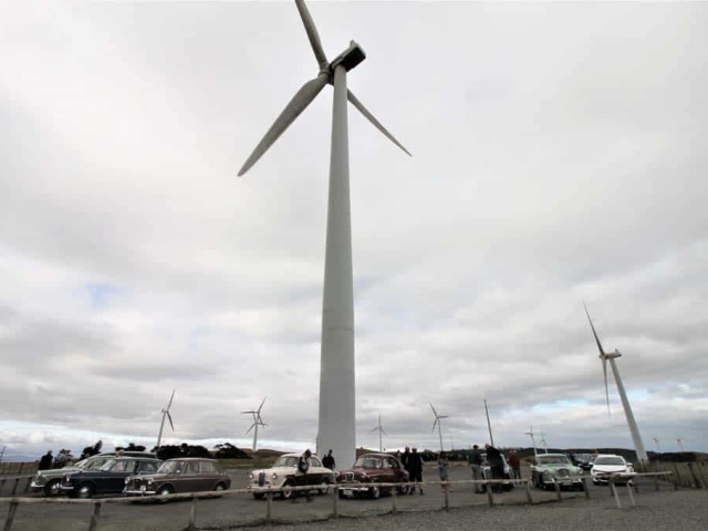 Parked up at the wind farm Palmerston North