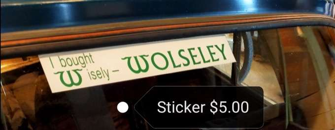 Wolseley Car Club I Bought Wisely Sticker 5