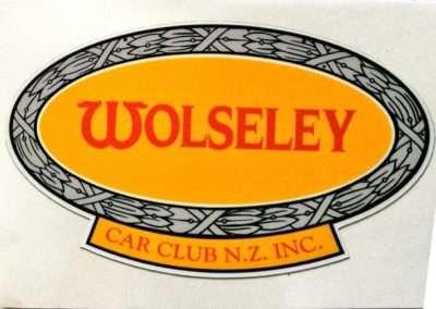 Wolseley Car Club Window Sticker 5