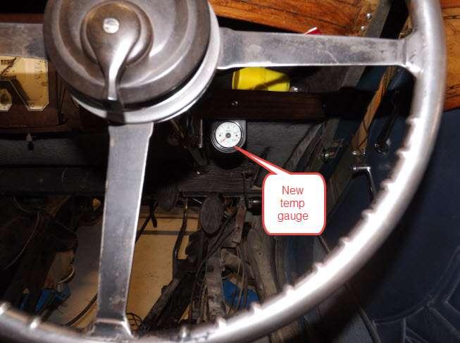 Brehaut Relocated temp gauge