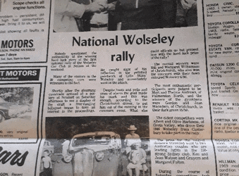 1st National Wolseley Rally at Nelson 1985