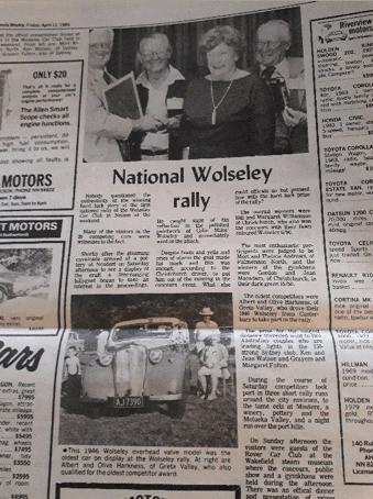 National Wolseley Rally Article 1