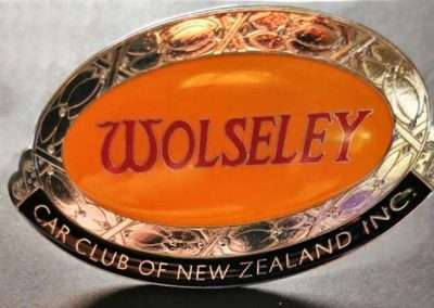 Wolseley Car Club NZ Grill Badge